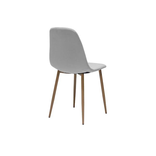 Finnley Dining Chair - Walnut, Stone Grey - 2
