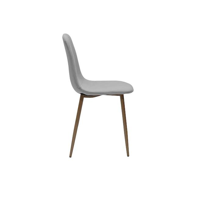 Finnley Dining Chair - Walnut, Stone Grey - 1