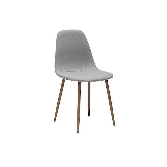 Finnley Dining Chair - Walnut, Stone Grey - 0