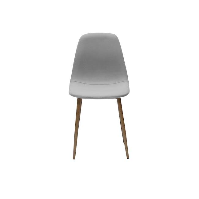 Finnley Dining Chair - Walnut, Stone Grey - 3