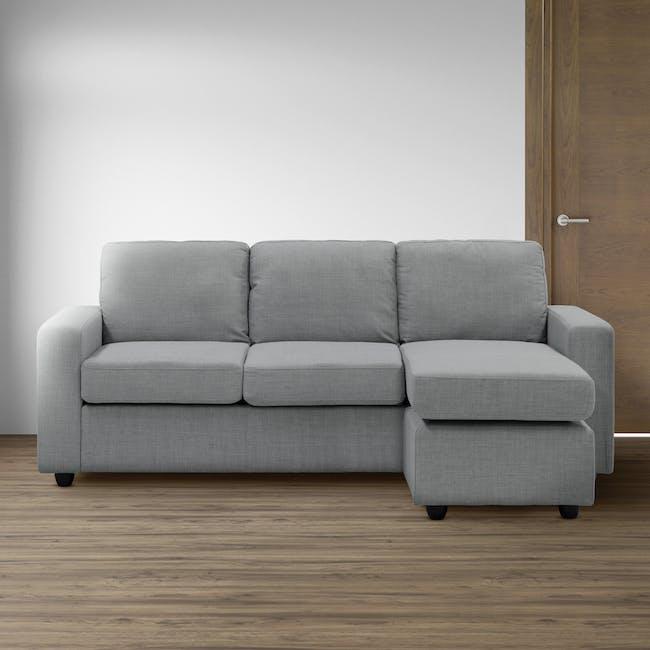 Hank L-Shaped Sofa - Pigeon Grey - 9