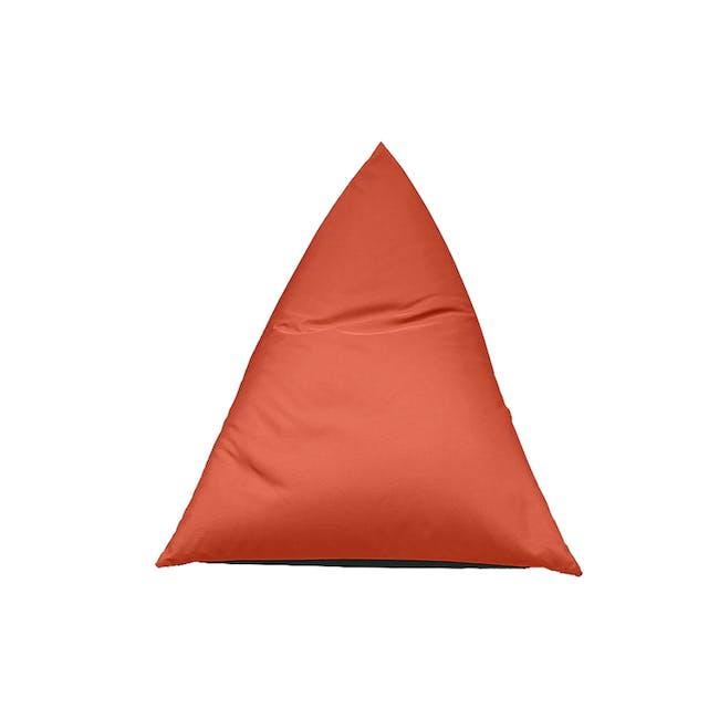 Splash Waterproof Outdoor Triangle Bean Bag - Orange - 8