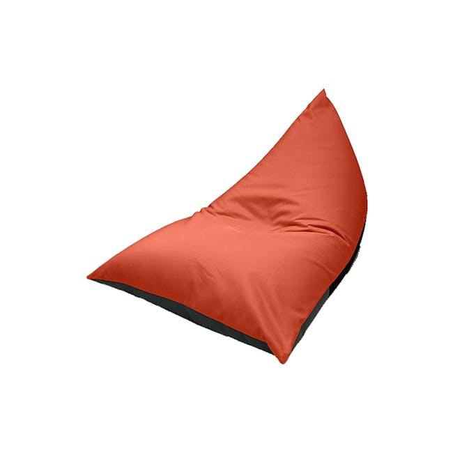 Splash Waterproof Outdoor Triangle Bean Bag - Orange - 6