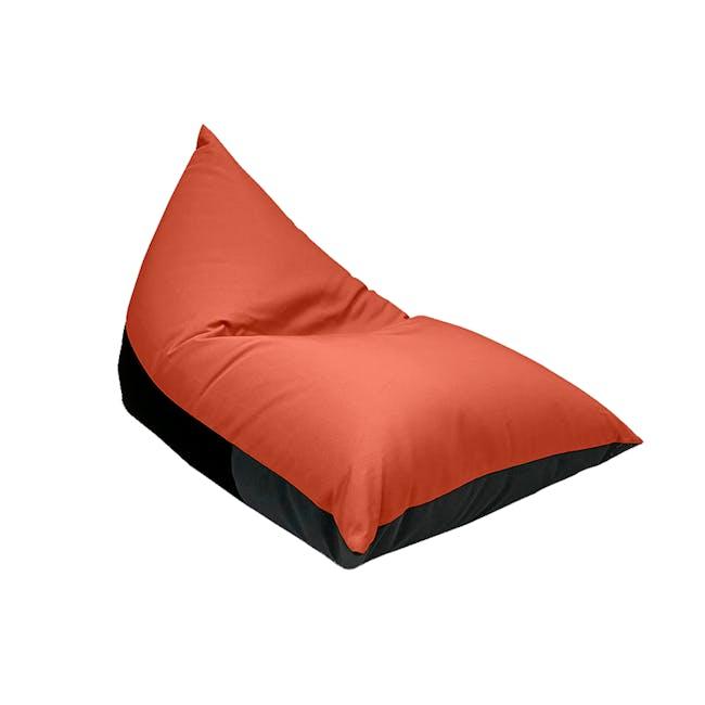 Splash Waterproof Outdoor Triangle Bean Bag - Orange - 0