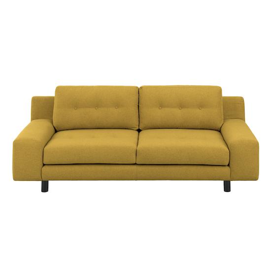 Wyatt 3 Seater Sofa Mustard Fabric
