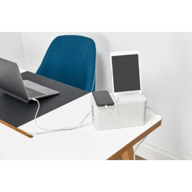 Bluelounge Cablebox Mini Station - White - 1