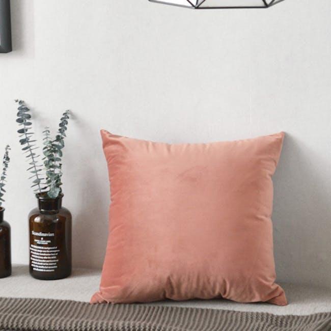 Tammy Large Velvet Cushion Cover - Peach - 1