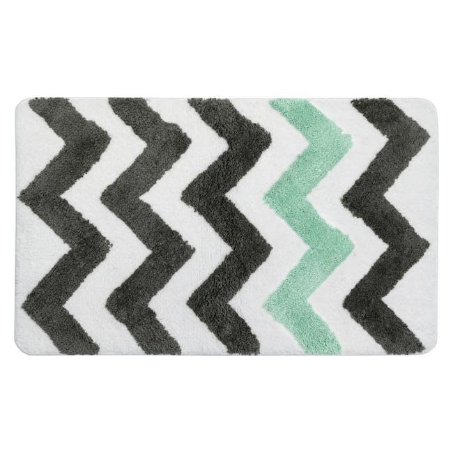 City Chevron Floor Mat - Mint - 0