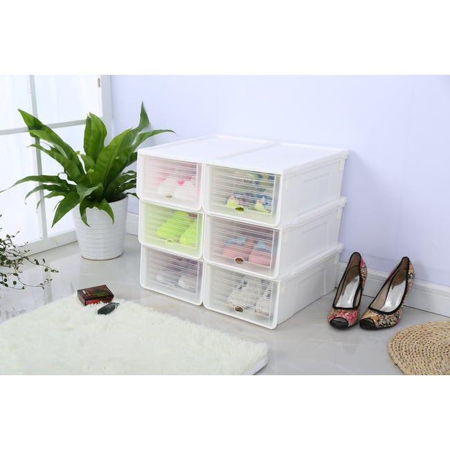 Ladies' Sliding Lid Shoe Box (Pack of 4) - 5