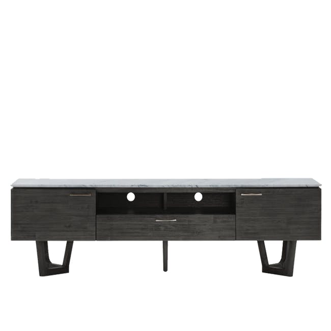 Carson Marble TV Console 2m with Carson Marble Coffee Table - 1