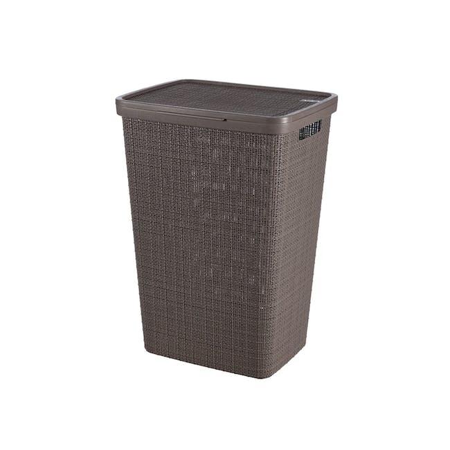 Jute Laundry Hamper 58L - Peppercorn - 0