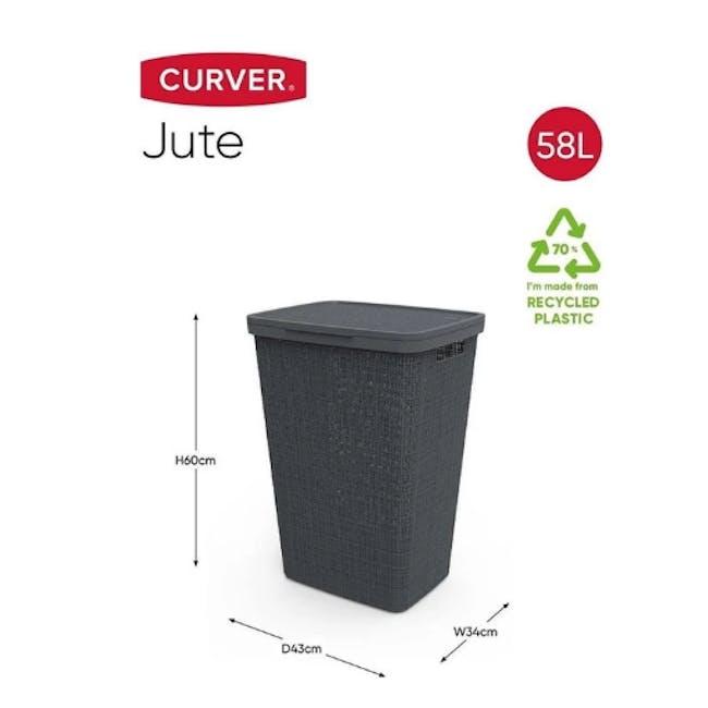Jute Laundry Hamper 58L - Peppercorn - 4