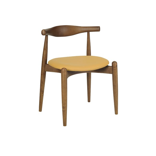 Bouvier Dining Chair - Walnut, Caramel - 0