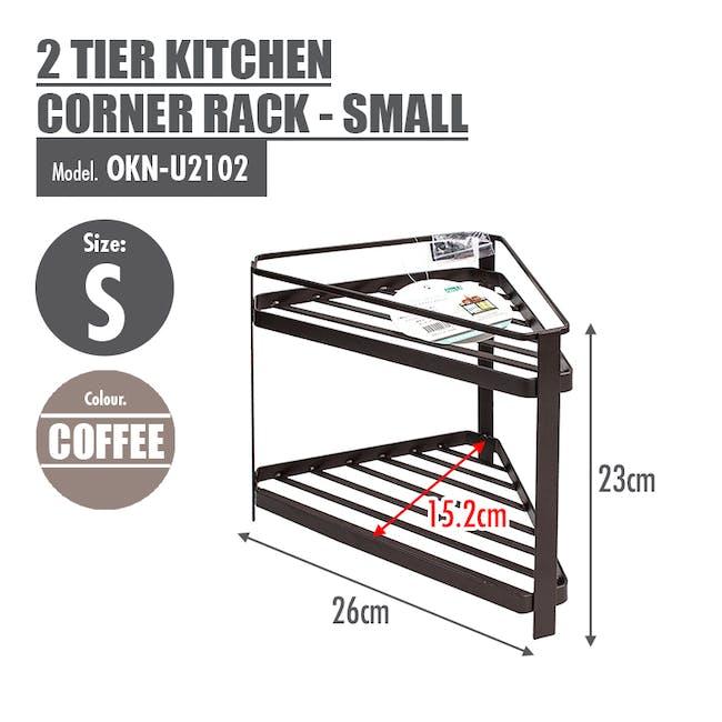 Small 2 Tier Corner Rack - 5