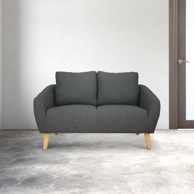 Hana2 Seater Sofa - Charcoal - 1