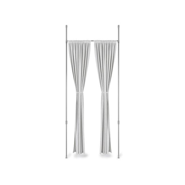 Anywhere Multipurpose Curtain Rod - Silver - 0