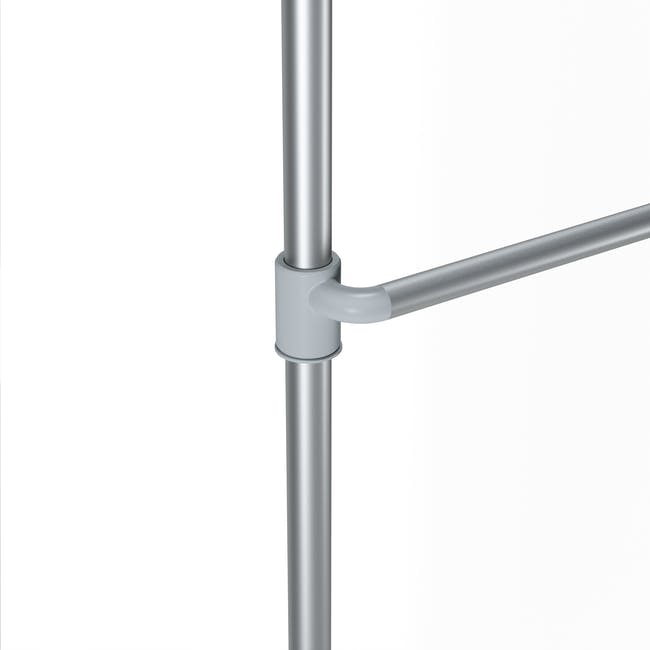 Anywhere Multipurpose Curtain Rod - Silver - 8