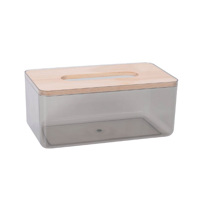 Wooden Tissue Box - Translucent Black - 0