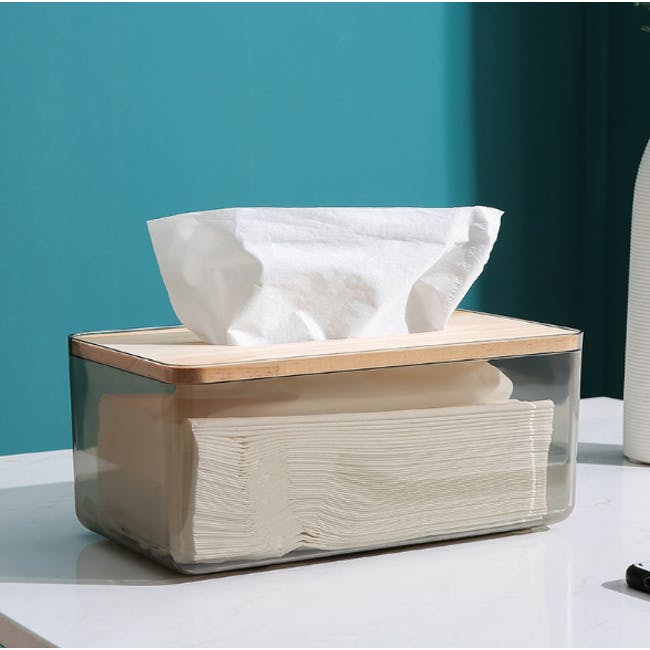 Wooden Tissue Box - Translucent Black - 1