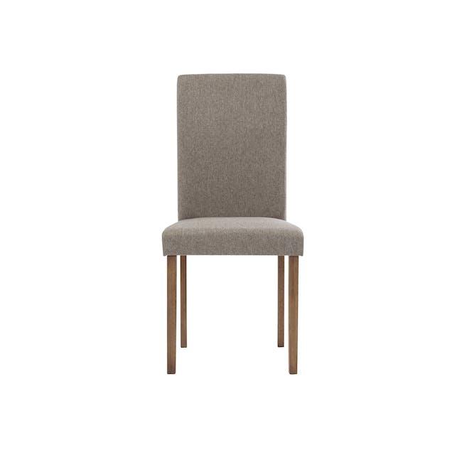 Dahlia Dining Chair - Cocoa, Tan (Fabric) - 1