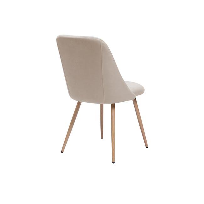 Lana Dining Chair - Oak, Wheat Beige (Fabric) - 1