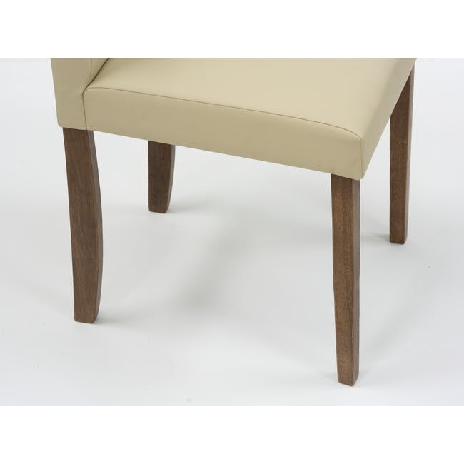 Dahlia Dining Chair - Cocoa, Cream (Faux Leather) - 7