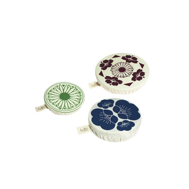 Halo Small Dish Cover Set of 3 - JL Edible Flowers - 0