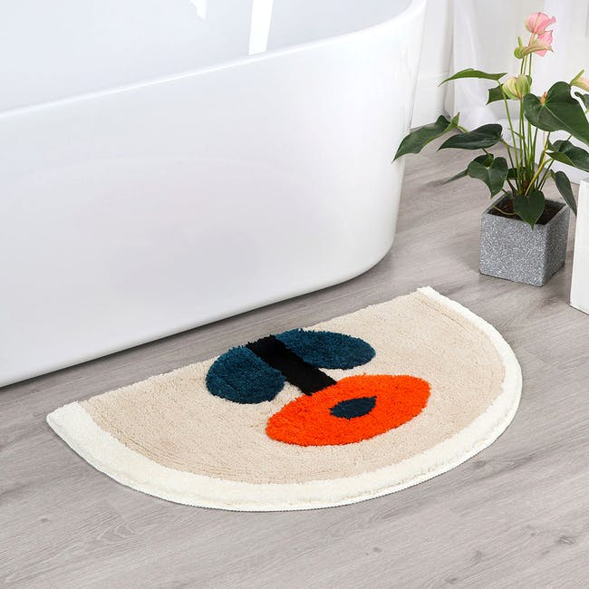 Noje Floor Mat - Red Daisy - 1