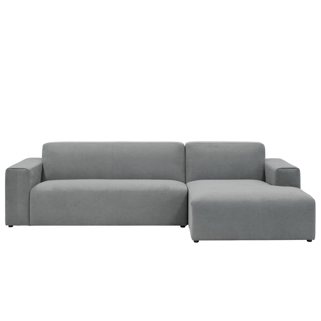 Adam L-Shaped Sofa - Stone - 0