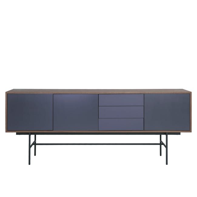 Bacchus Sideboard 2m - Walnut, Grey - 0