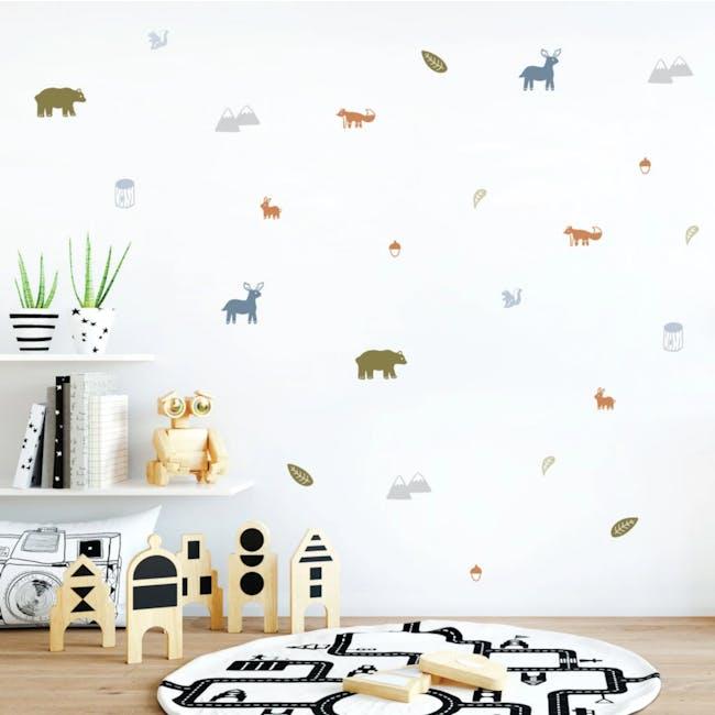 Urban Li'l Woodland Animals Fabric Decal - Natural - 0