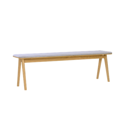Fidel Bench 1.5m - Oak, Squirrel Grey - Image 2