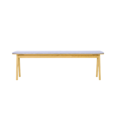 Fidel Bench 1.5m - Oak, Squirrel Grey - Image 1