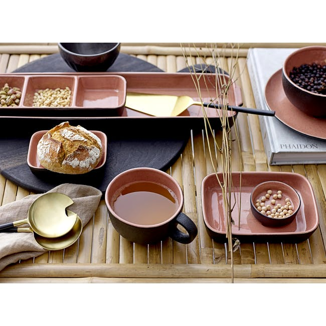 Sienna Serving Plate - Black, Orange - 3