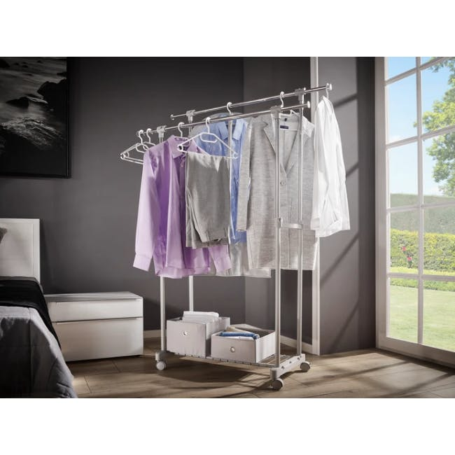 Leifheit Portable Clothes Hanging Rack - 1