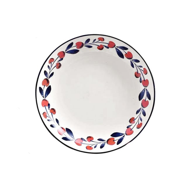Table Matters Holiday Berry Hand Painted Coupe Plate - 0