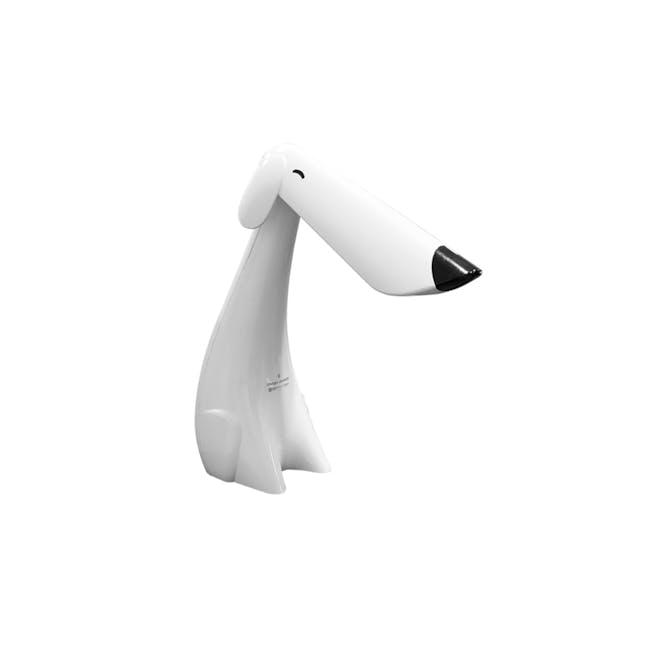 SOUNDTEOH 8W LED Dog Table Lamp - White - 0