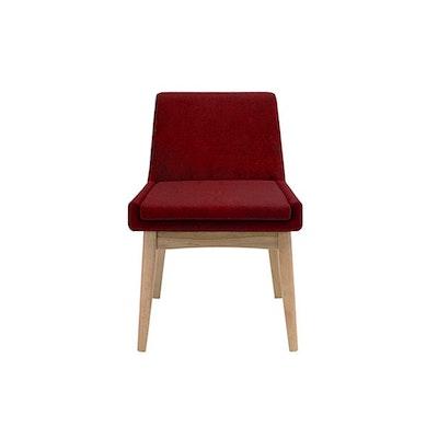 (As-Is) Fabian Dining Chair - Oak, Crimson
