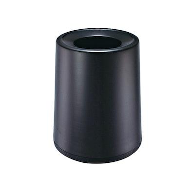 Matte Open-Top Trash Bin - Black