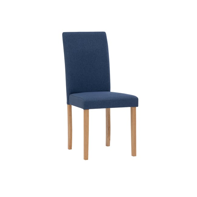 Charmant Dining Table 1.4m in Oak with 4 Dahlia Dining Chairs in Navy - 5