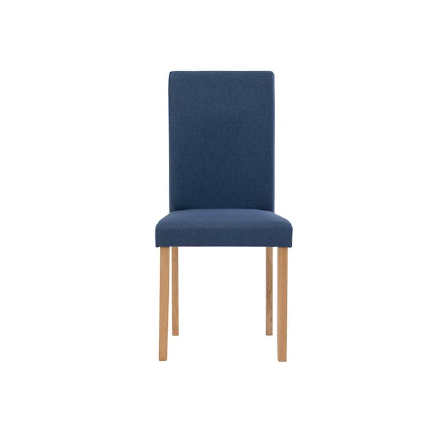Charmant Dining Table 1.4m in Oak with 4 Dahlia Dining Chairs in Navy - 6