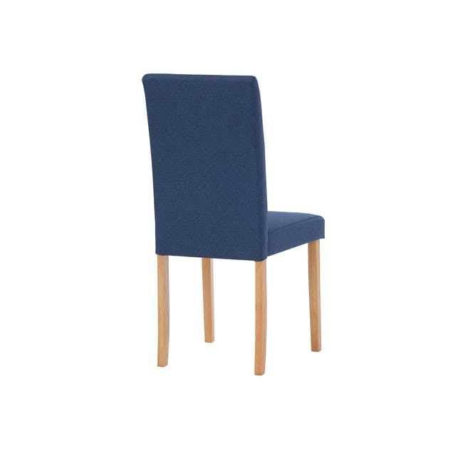 Charmant Dining Table 1.4m in Oak with 4 Dahlia Dining Chairs in Navy - 8