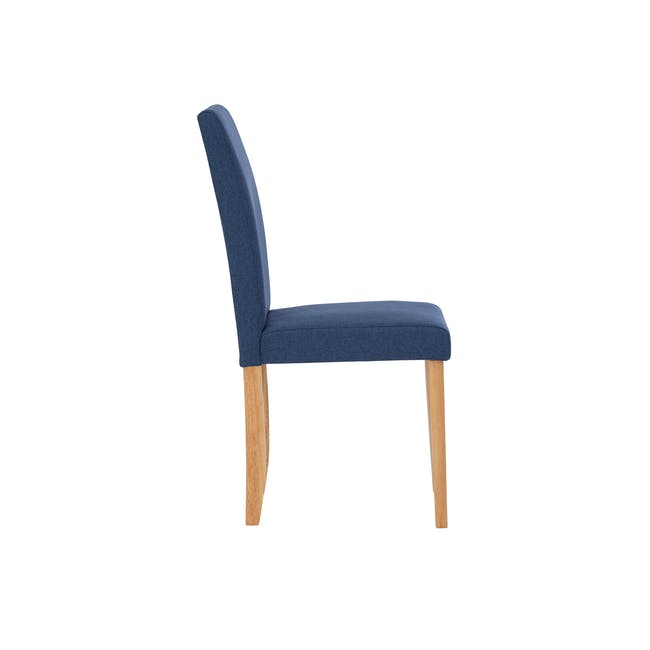 Dahlia Dining Chair - Natural, Navy (Fabric) - 2