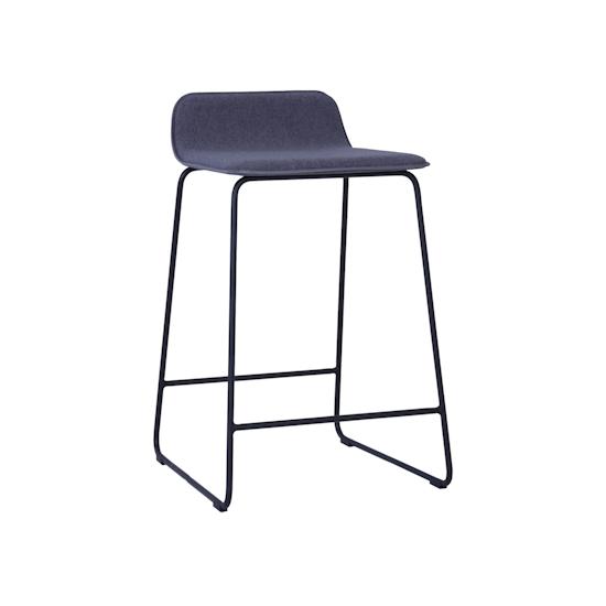 Helga - Scotia Counter Chair - Battleship Grey, Black