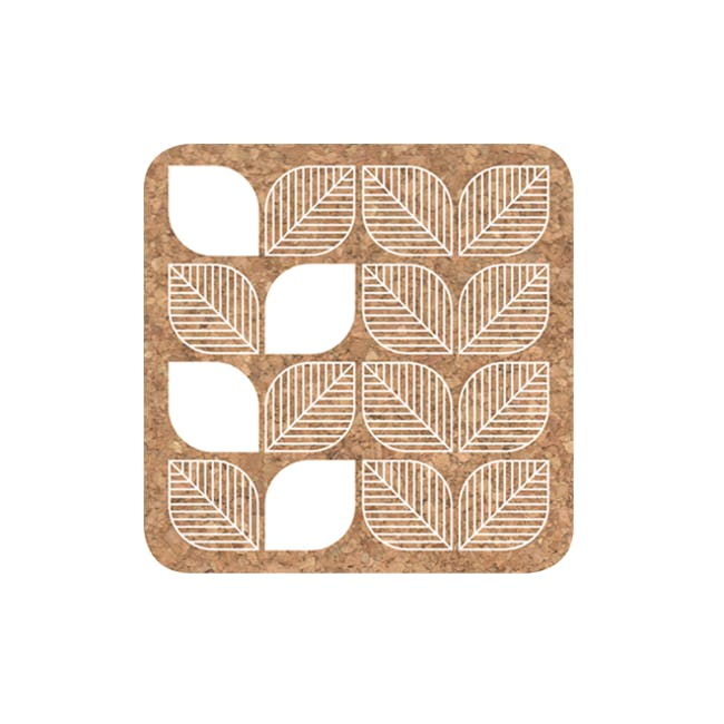 White Leaf Coaster (Set of 4) - 0