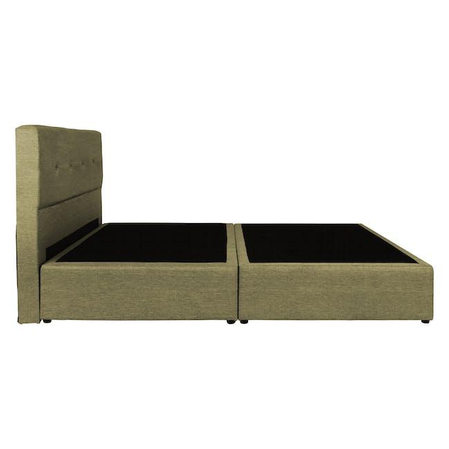 ESSENTIALS Queen Headboard Box Bed - Khaki (Fabric) - 3