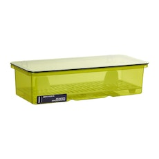 Plastic Cutlery Box - Green