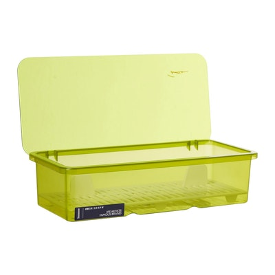 Plastic Cutlery Box - Green - Image 2