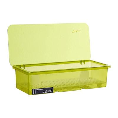Plastic Cutlery Box - Green