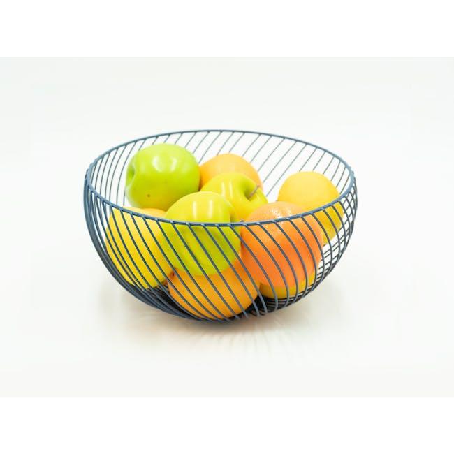 Rhea Wire Basket - Blue - 1